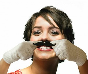 finger mustache glove