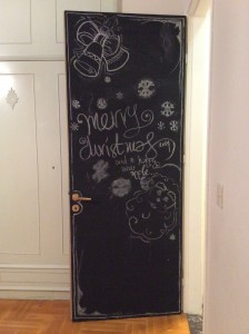 chalk painted door