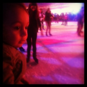 baby at the ice rink