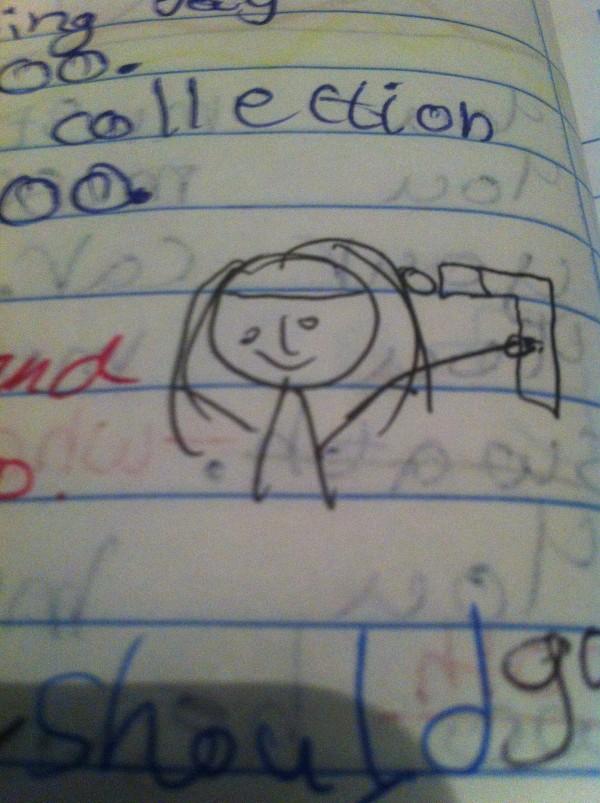 funny kid's drawing on momfatale.gr