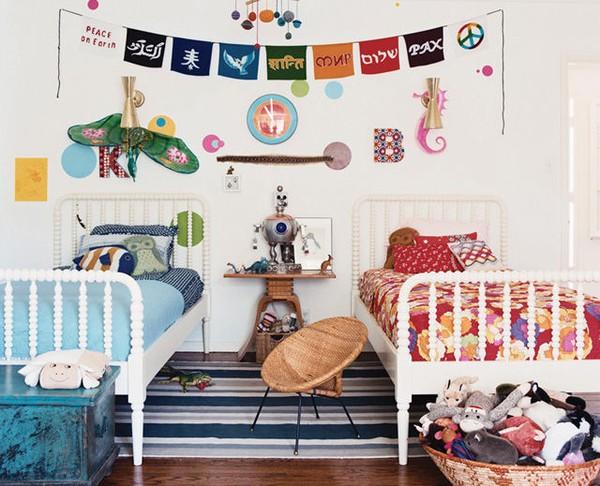 παιδικά δωμάτιο με χρώμα