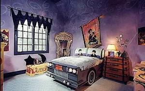 δωμάτιο αυτοκίνητο κρεβάτι δράκουλας μωβ