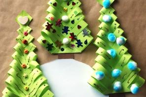 DIY Χάρτινο Χριστουγεννιάτικο δεντράκι