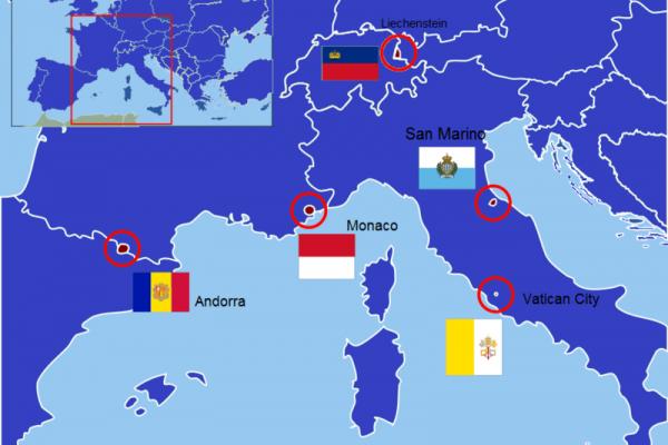ανεξάρτητα ευρωπαικά κρατίδια χάρτης