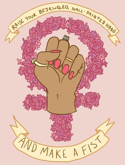φεμινισμός γροθιά μανικιουρ