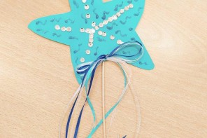 DIY: Φτιάχνουμε Ένα Θαλασσινό Μαγικό Ραβδί με Αστερία!
