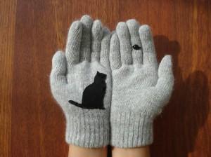 bird cat glove