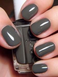 grey brown manicure nails καφε γκρι μανικιουρ νύχια