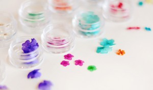 tiny dried flowers  -  nail art kit
