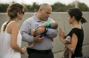 Baby rescued after stopped breathing