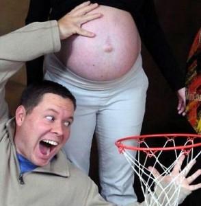 pregnant dunk photo