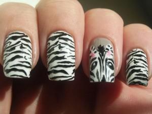 fierce-animal-print-nail