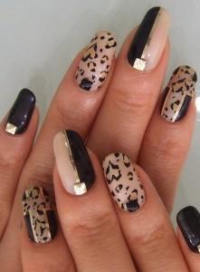 short-nail-fashion-forward-animal-print-nail-art-idea-funky-nail-polish-designs