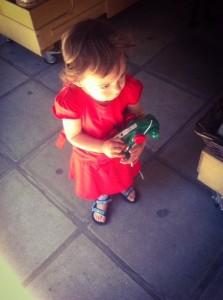 girl toddler red dress sandals