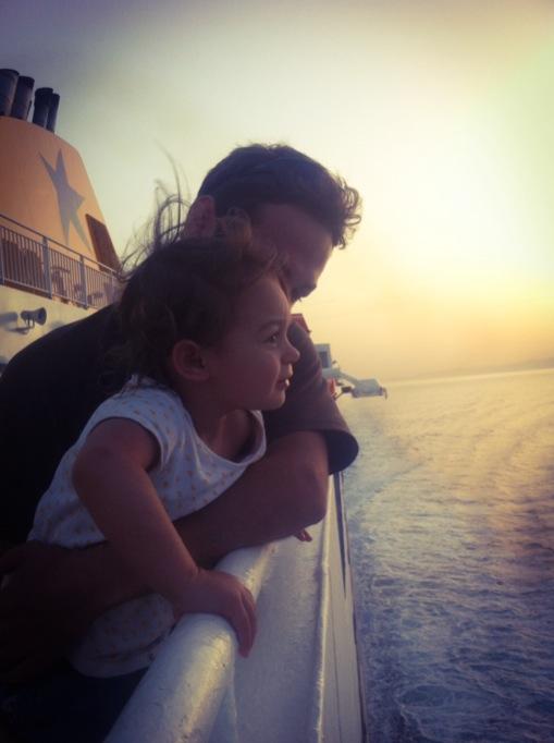 toddler on blue star ferries