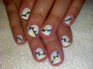LED polish mini-mani in 'creme meringue' and my spin on Xmas tree lights Acrylic-Nails-Nail-Art-Xmas-Salon-Gel-Nails-Polish-LED-Polish-LED-Nails-Artificial-Nails-Xmas-nail-art-French-manicure-ped